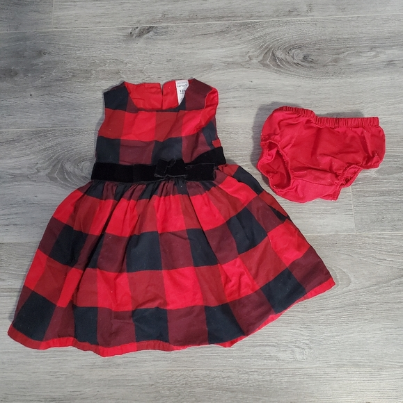 CARTERS Buffalo Plaid Tulle Dress